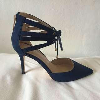 Navy Blue Carvella by Kurt Geiger Pointed Heels