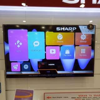 """Tv Sharp 60"""" bisa dicicil"""