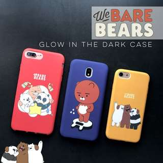 We Bare Bears Glow in the Dark Case for Iphone 5 5s SE 6 6s 6+ 6s+ Plus 7 8 7+ 8+ Samsung J7 Pro Prime Oppo A37 F1s F3 Vivo V5 V5s V7 plus
