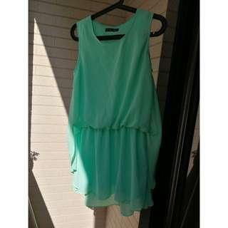 馬卡龍綠洋裝