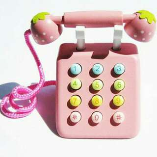 *Promo* Wooden Toy - Telephone (Pink)