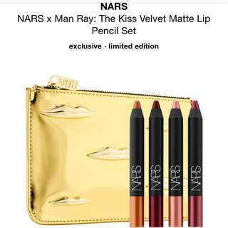 NARS man ray lip set with pouch