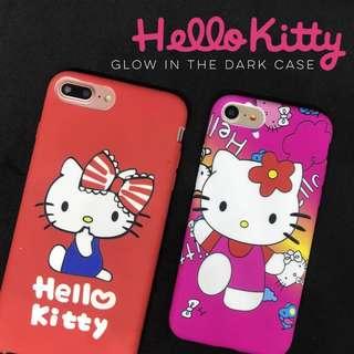 Hello Kitty Glow in the Dark Case iPhone 5 5s se 6 6s 6+ 6s+ Plus 7 8 7+ 8+ Samsung J7 Pro Prime Oppo A37 F1s F3 Vivo V5 V5s V7 plus V7+