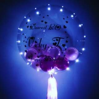 Personalise balloon with LED lights