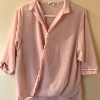 Pink Blouse - Loose Fit
