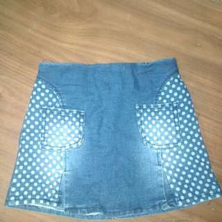 Rok jeans dalaman celana