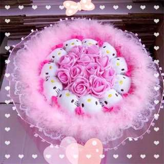 Premium Hello Kitty Bouquet - Dreamy pink