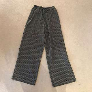 High-Waisted Striped/Dotted Pants