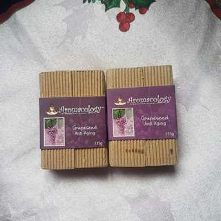 Aromacology Handmade Soaps: Grapeseed Anti-Aging Bar