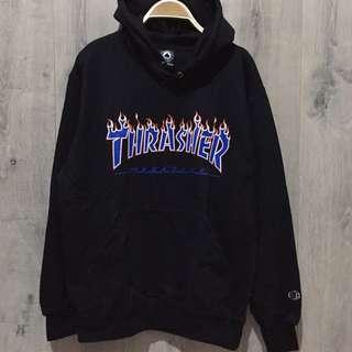 hoodie thrasher x champion