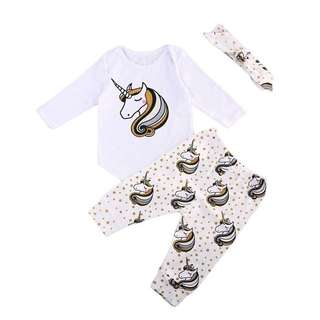 Unicorn Baby Clothes Set