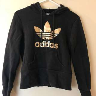 Adidas Black and Gold Hoodie