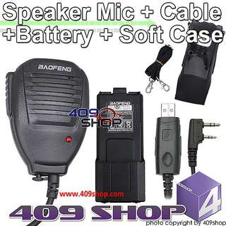 Li-ion Battery + CASE + USB CABLE + SPEAKER MIC FOR BAOFENG