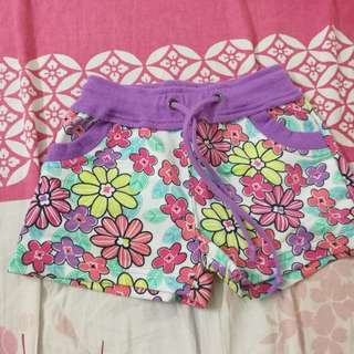 Kid floral shorts pant