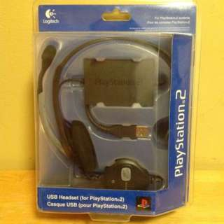 Logitech USB headset 耳機麥克風 PS2,PS3,PS4,電腦(通用) (100%全新)