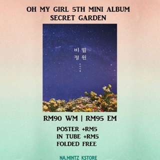 PRE-ORDER OH MY GIRL 5TH MINI ALBUM - SECRET GARDEN