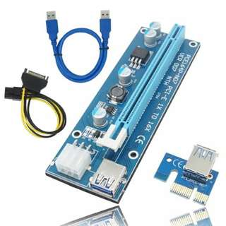 Powered riser usb 3.0 risers