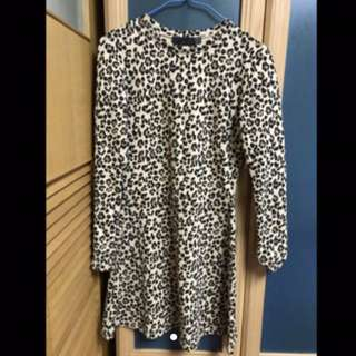 ZARA TRF系列豹紋洋裝