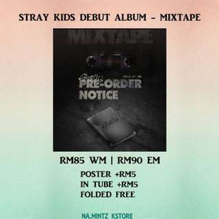 PRE-ORDER STRAY KIDS DEBUT ALBUM - MIXTAPE