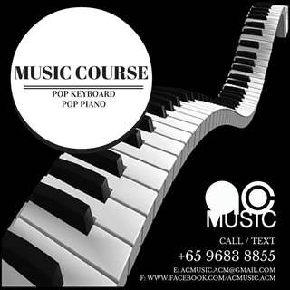 Pop Keyboard / Piano Lesson Available
