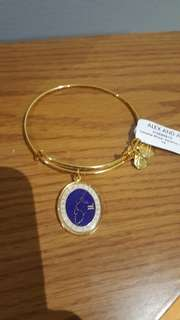 Gold Alex and Ani Aquarius Celestial Wheel