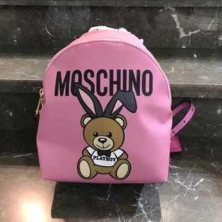 全新moschino粉色背包