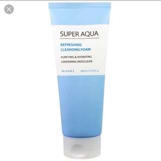 Missha Super Aqua Refreshing Cleansing Foam