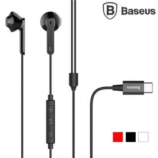 Type-C插頭線控耳機 BASEUS倍思 C16 Type-C手機專用音樂耳塞Earphone GSA0009A