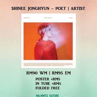 PRE-ORDER SHINEE JONGHYUN - POET | ARTIST