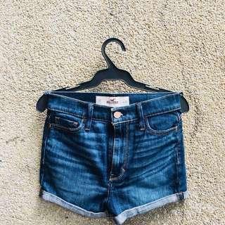 Branded Denim shorts