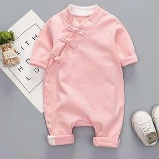 🆕 Pink Cheongsam Baby Romper