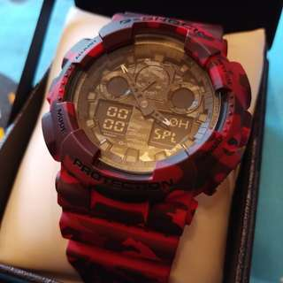 Casio g shock紅迷彩