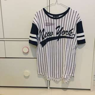 New look baseball shirt