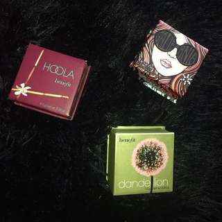 Benefit hoola, GALifornia blush, dandelion blush