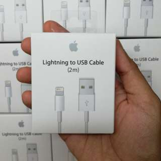 ORIGINAL APPLE IPHONE LIGHTNING CABLE 2METER With 1 Year Warranty
