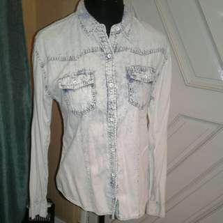 Life in progress by forever 21 denim top