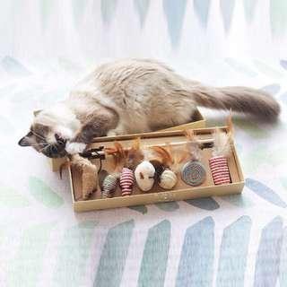 [7Pcs] Cat Teaser Stick Toy Set