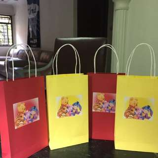 Winnie the Pooh and Friends Paper bag or Loot bags