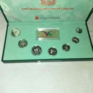 1997 Sterling Silver Proof Coin Set For Sale