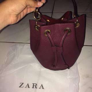 Zara Original Blue Bucketbag / Slingbag / Bag / Tas