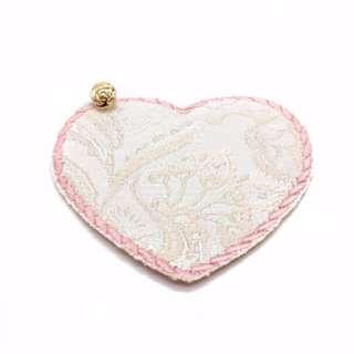 Charmed Fabric Bookmark (Shiny Peach)
