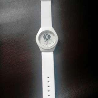 全新EXO 白色手錶