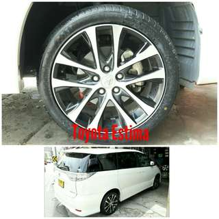 Tyre 225/45 R18 Membat on Toyota Estima 🐓 Super Offer 🙋