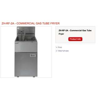 COMMERCIAL GAS TUBE FRYER ZH-RF-2a