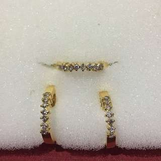 Real Diamonds One Set (ring and earrings)