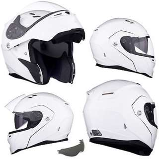 Bell Revolver Evo Adult Modular Flip Up Street Motorcycle Motorbike Helmet (Gloss White, SIZE LARGE ONLY D.O.T.-Certified) Best everyday helmet