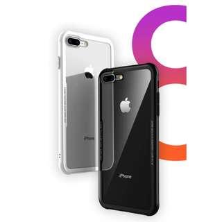 iPhone 7 / 7 Plus / iPhone 8 / 8 Plus / iPhone X 高透鋼化玻璃保護套 雙玻璃 超透亮 清晰透亮 支持無線充電