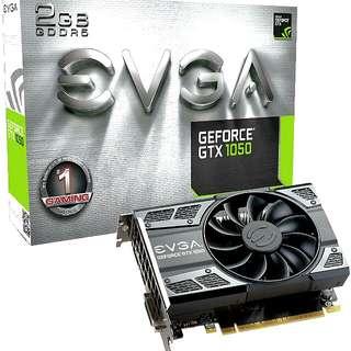 EVGA GTX 1050 2gb GTX1050 gpu gfx graphics card