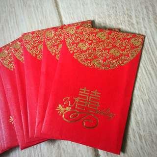 ⭐️清貨價⭐️紅色囍字細利是封 x 80個 (囍帖10蚊利是)