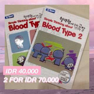 Simple Thinking about Blood Type 1 2 Komik Novel